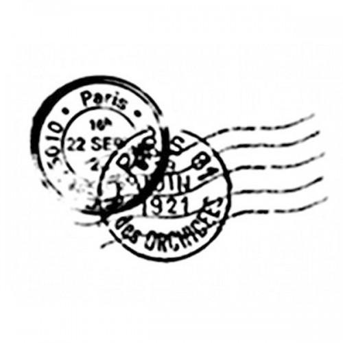 Tampon bois - Cachet poste