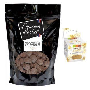 Pedazos de chocolate 1 kg negro +...