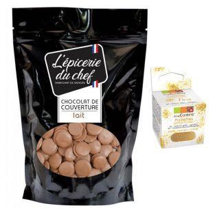 Palets de chocolat au lait de...