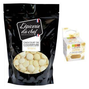 Schokoladen-Drops 1 kg Weiße...