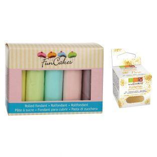 Coffret de 5 pâtes à sucre pastels x...