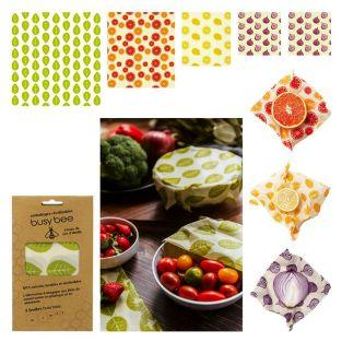 5-sheet beeswax reusable food packaging