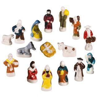4 Porzellanbohnen - Krippenfiguren