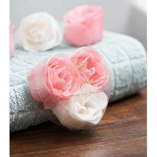 3 jabones en forma de rosa