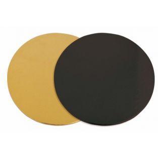 Bases para pasteles - oro y negro