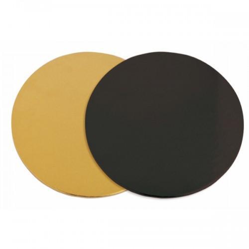 6 supports à gâteaux ronds doré-noir Ø 24 cm