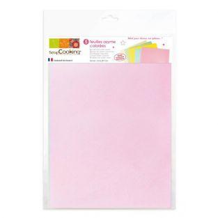5 farbigen Waffel papier