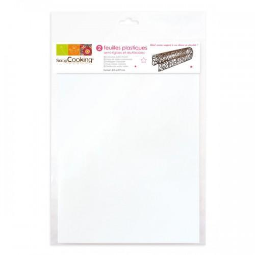 2 plastic sheets