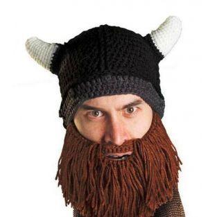 Mütze mit integriertem Bart - Wikinger