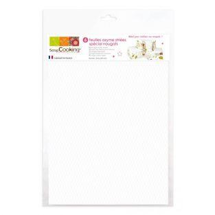 6 Waffel papier fur Nougat