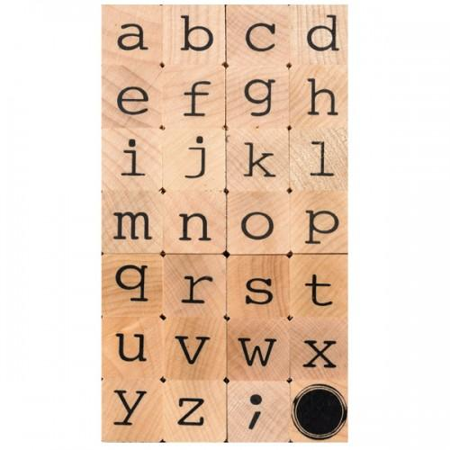 Wooden stamp - lowercase alphabet