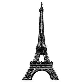 Holz Stempel - Eiffelturm