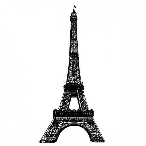 Sello de madera - Torre Eiffel