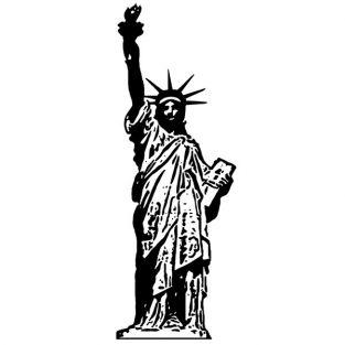 Tampon bois - Statue de la...