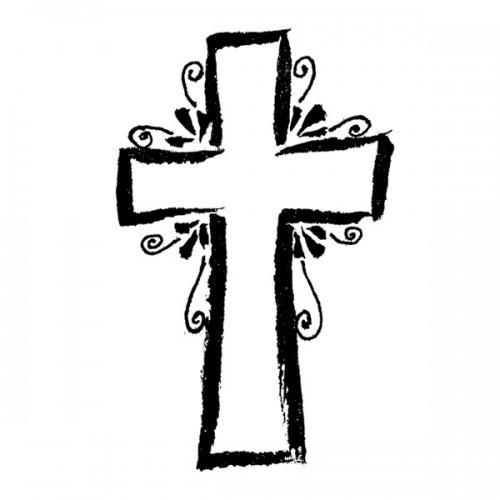 Wooden stamp - Cross