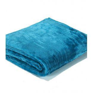 Plaid turquoise en polaire