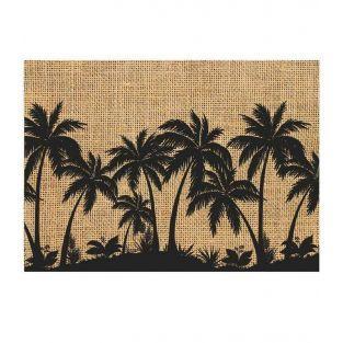 Plate mats palm tree