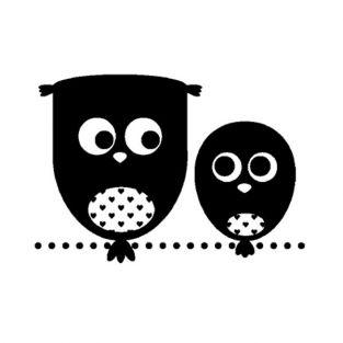 Wooden stamp - owls