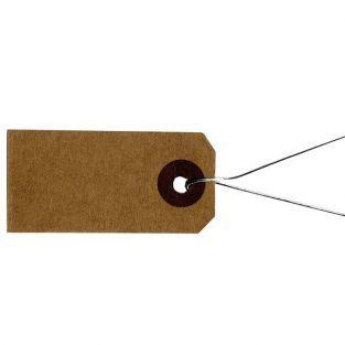Etiquettes kraft avec fil métallique...
