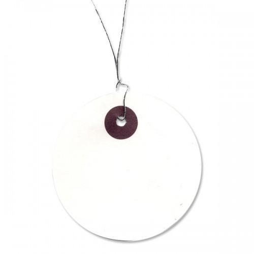 Round White labels Ø 5 cm