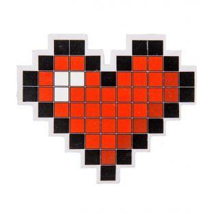 Giant pixel heart eraser