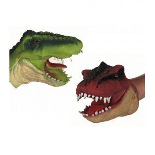 Títere de mano de dinosaurio