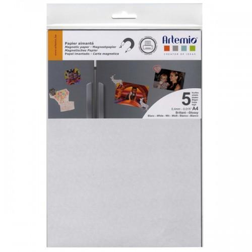 Magnetic paper 5 sheets - glossy