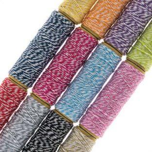 Kit 12 ficelles multicolores 10 m