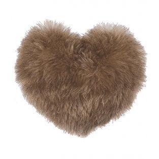Cuscino di peluche per il cuore