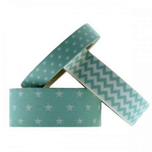 Masking tapes géométriques - Menthe