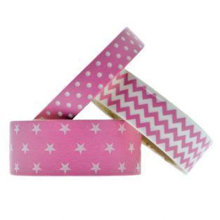 Masking tapes géométriques - Fuchsia