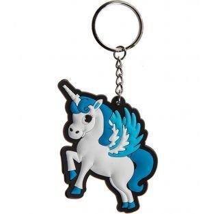 Porte-clés anneau licorne