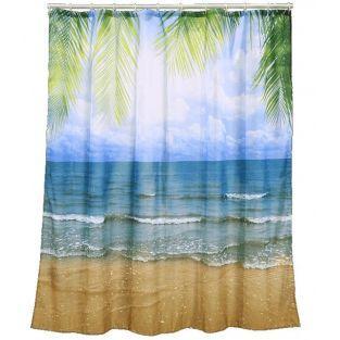Tropischer Duschvorhang