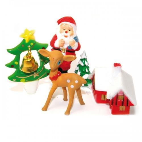 Christmas toppers sugars decoration