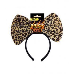Cinta de leopardo en la cabeza