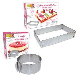 2 adjustable cake rings -...