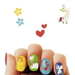 Pegatinas de uñas del Unicornio