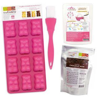 Chocolate Gummi Bears preparation kit