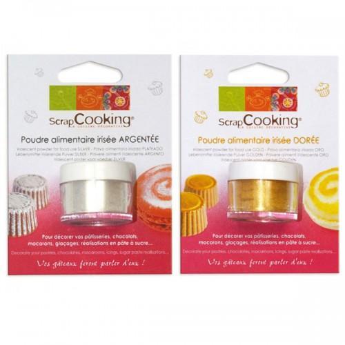 Food powder silver & gold
