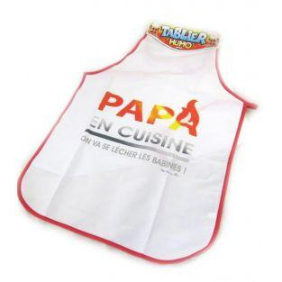 Daddy's apron in the kitchen