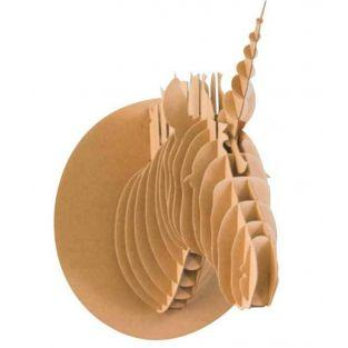 3D-Einhornkopf aus Karton