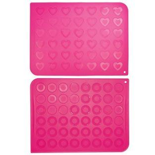 2 silicone mats for macaroons -...