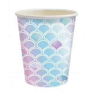 Set of 8 cups - Mermaid