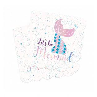 Pack of 20 towels - Mermaid