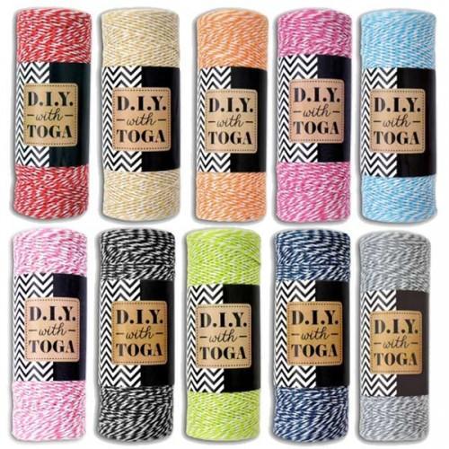 Kit 10 ficelles multicolores 100 m