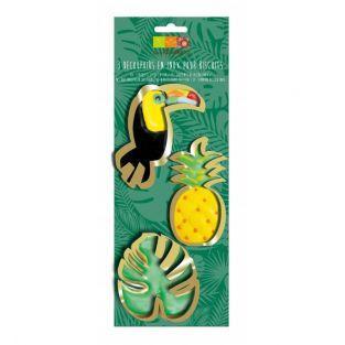 3 Découpoirs en inox dorés - Toucan