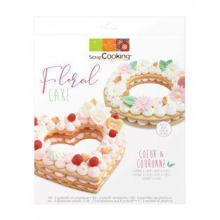 Caja de pasteles florales