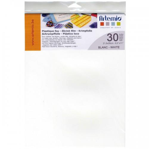Shrink film 30 sheets - white