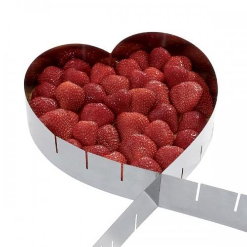Cadre à pâtisserie extensible - coeur