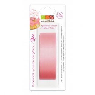 Satin ribbon for cake tower - Pink 2...